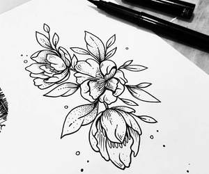 flowers and tattoo image