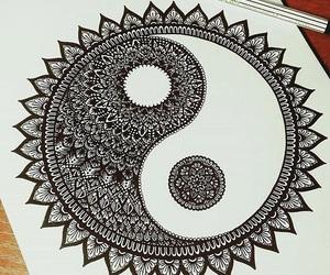 art, ying and yang, and drawing image