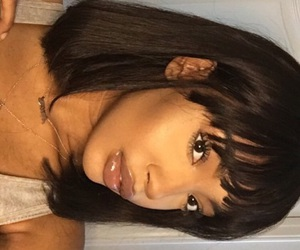 bangs, black women, and girl image