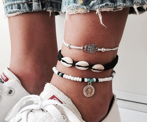 boho, anklets, and hipster image