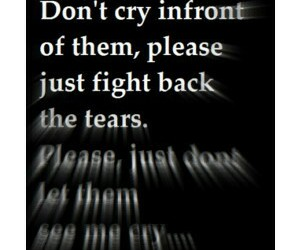 quotes, cry, and depressed image