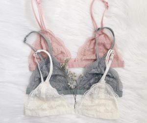bra, lace, and bralette image