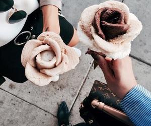 food, ice cream, and rose image