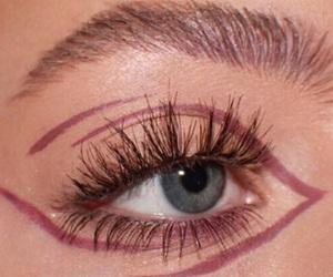 fake lashes, glam, and make up image