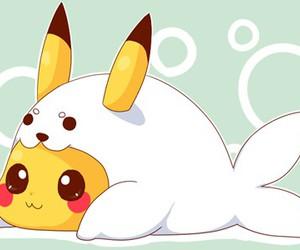 pikachu, kawaii, and cute image