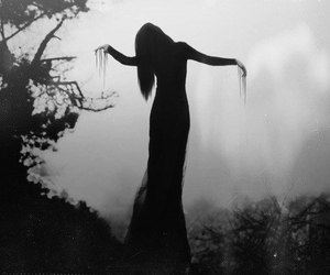 black, dark, and horror image