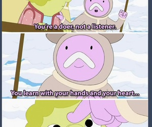 head, learn, and adventure time image