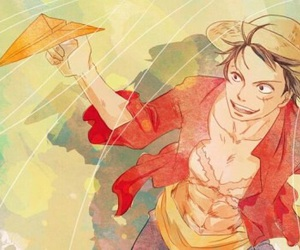 one piece, pirates, and luffy image