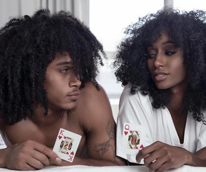 couple and black image