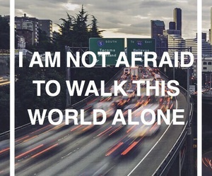 alone, quote, and world image