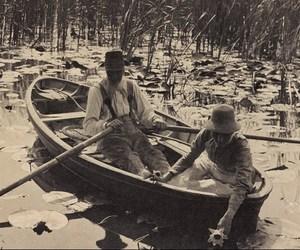 black and white, boat, and edwardian image