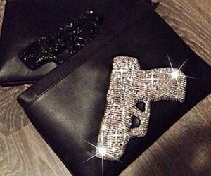 gun, luxury, and black image