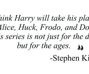 harry potter, quote, and Stephen King image