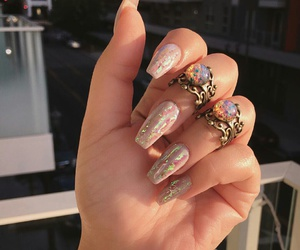 fashion, indie, and nails image