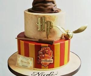 cake, harry potter, and gryffindor image