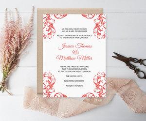 etsy, diy invitation, and elegant invitation image