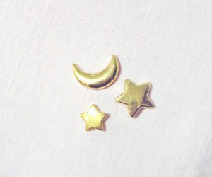 stars, moon, and gold image