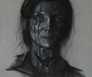 art, dark, and digital image
