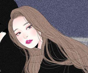jennie, art, and blackpink image