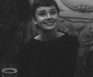 audrey hepburn, black and white, and beauty image