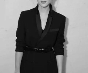 black and white, emma watson, and indie image