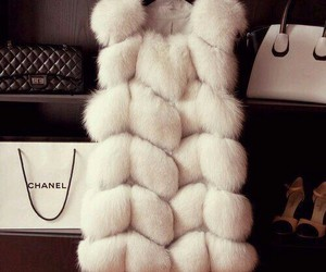 chanel, fashion, and fur image