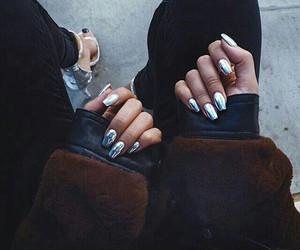 girl, nails, and black image