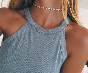 girl, choker, and necklace image
