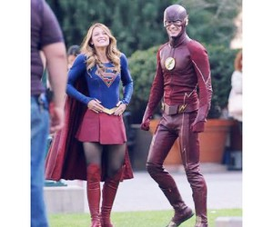 flash, Supergirl, and love image