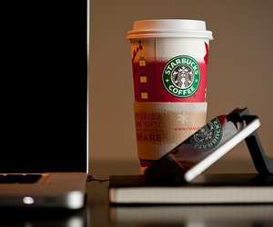 starbucks, photography, and iphone image