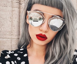 hair and glasses image
