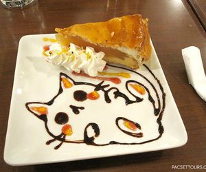 cat, cute, and food image