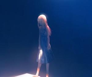 anime, girl, and alone image