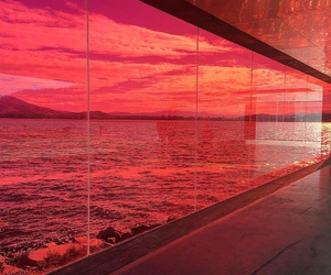 red, aesthetic, and sea image