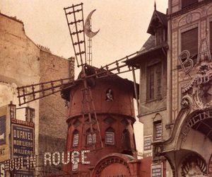 moulin rouge, paris, and vintage image