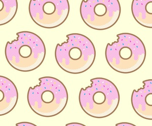 wallpaper, donuts, and cute image