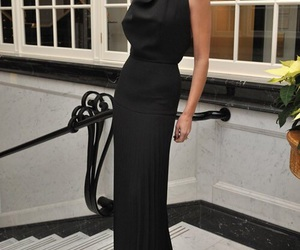 black, black dress, and victoria beckham image