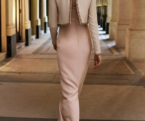 cream, dress, and style image