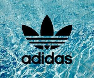 adidas, water, and wallpaper image