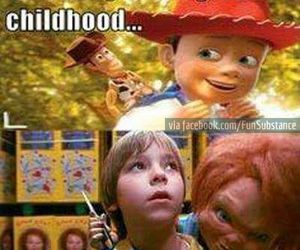 funny, andy, and toy story image