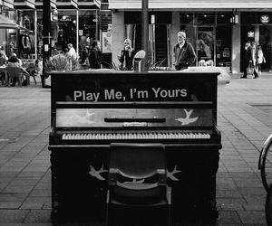 piano, music, and street image