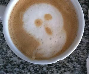 Halloween, coffee, and ghost image