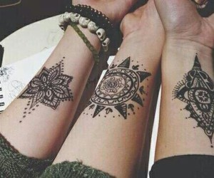 goals, henna, and friends image