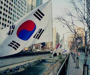 korea, flag, and seoul image