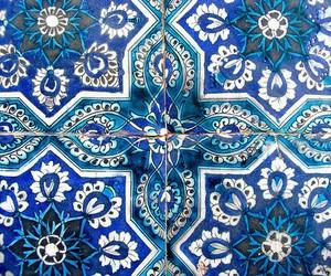 blue, art, and pattern image