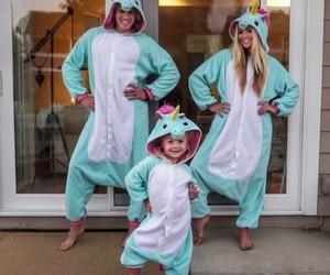 family and unicorn image