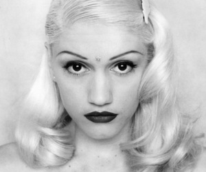 gwen stefani, black and white, and blonde image