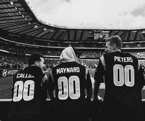 black and white, NFL, and callum image