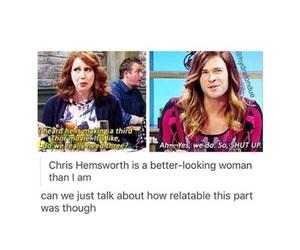 funny, Marvel, and chris hemsworth image