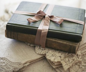 book, vintage, and bow image